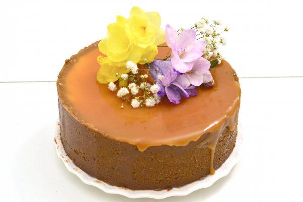 Cheesecake alla vaniglia e salsa mou