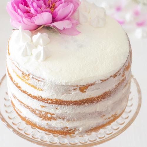 Naked cake al fondente - Una torta elegante al fondente e